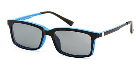 Cooline 058 black/blue 2V1 54/16/142 + clip-on