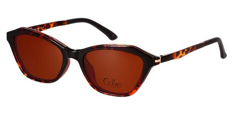 Cooline 124 brown demi 2V1 53/18/145 + clip-on